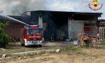 Incendio in una capannone di un'azienda agricola