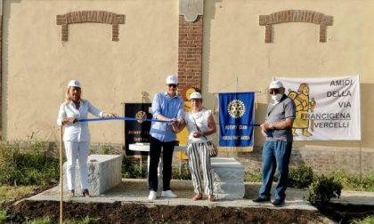 Via Francigena, due nuove aree di sosta grazie al Rotary Club