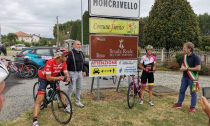 Moncrivello tra le tappe del tour della ciclista Paola Gianotti