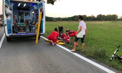 Ciclista urtato da un'auto tra Brusasco e Verrua: grave in ospedale