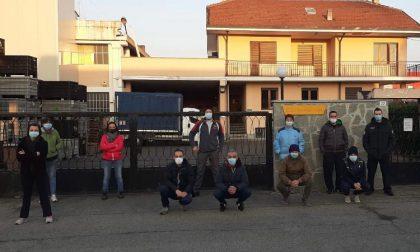 Lavoratori della SL  di Brandizzo in sciopero