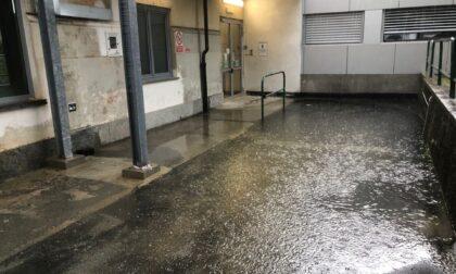 Maltempo, allagato l'ingresso dell'ospedale di Chivasso LE FOTO
