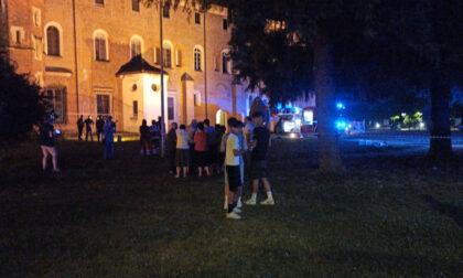 Incendio nella basilica di Sant'Andrea di Vercelli