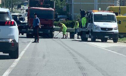 Chivasso Centro: incidente all'ingresso dell'autostrada A4 Torino-Milano