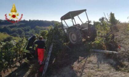 Incidente in vigna, trattore si ribalta: muore agricoltore 56enne
